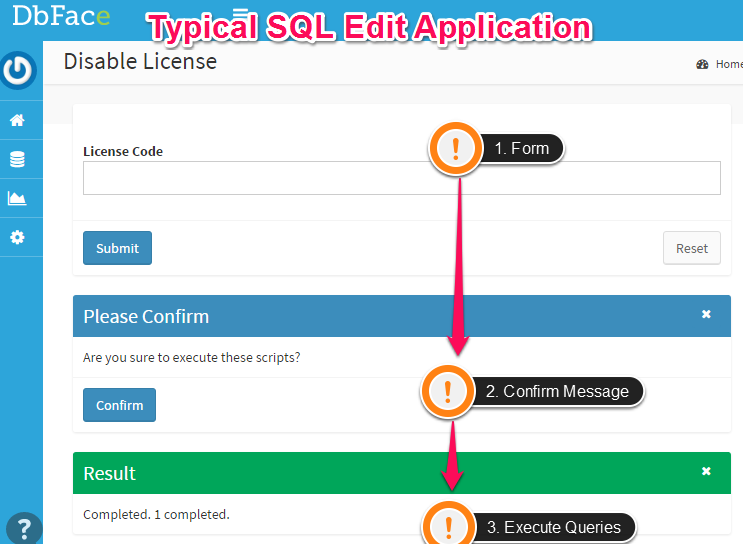 Typical SQL Edit Applications in DbFace