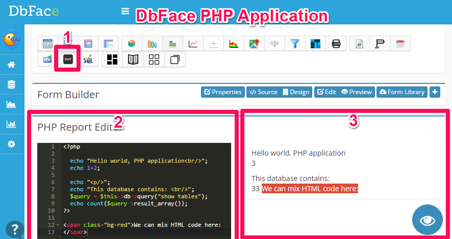 PHP Application - DbFace Documentation